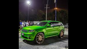 rose gold jeep srt8 cherokee candy green on 28