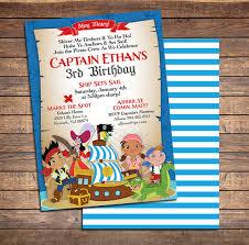 jake neverland pirates invitations printable boys custom
