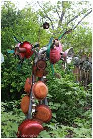 Do It Yourself Garden Art - 36 best upcycled garden art images on pinterest garden crafts