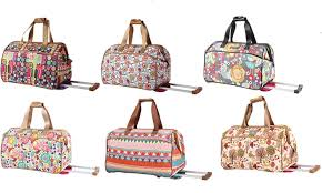 Lily Bloom 63 Off On Lily Bloom Wheeled Duffel Bag Groupon Goods