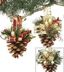 pinecone ornaments with ribbon with joann
