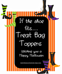 it u0027s written on the wall halloween treat bag toppers if the shoe