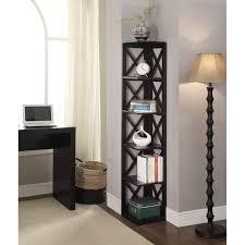 Bookcase Corner Convenience Concepts Oxford Wooden 5 Tier Corner Bookcase Free