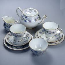 duchess bone china tranquility pattern 923 2 person tea set