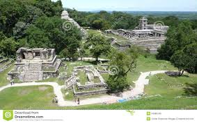 Mayan Ruins Mexico Map by Palenque Chiapas Mexico Stock Photo Image 34985340