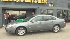 keyc jerry u0027s abra auto body u0026 glass donates car to mother of four