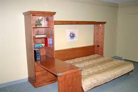 ross murphy bed with bookcase desk custom by chris davis