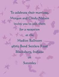 Wedding Reception Wording Samples Examples And Templates Wedding Reception Only Invitation Wording