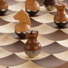 wobble chess set by umbra in the shop