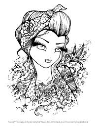 tattoo darlings free sample coloring page rockabilly by