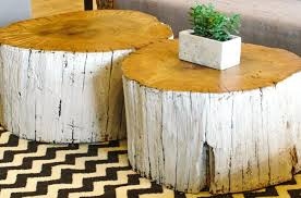 Log Side Table Side Table Log Side Table Rustic Tree Stump Coffee Beautiful