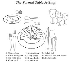 set table to dinner dining etiquette kent state university