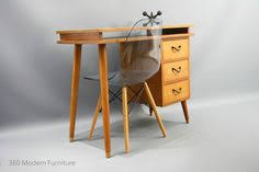 Retro Modern Desk Mid Century Desk Oak Dining Table Vintage Retro Industrial Scandi