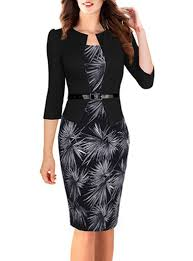 peplum dress attached jacket black white floral pencil skirt