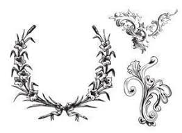 free leafy frames and ornament brushes vintage photoshop brushes