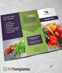 nutrition brochure template nutritionist tri fold brochure template