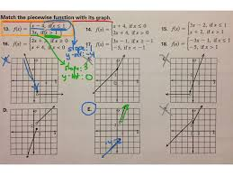 matching piecewise functions to their graphs math algebra 2