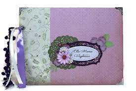 personalized scrapbook purple baby girl memory book personalized scrapbook album baby