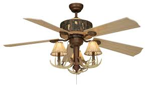 western ceiling fans with lights rustic antler ceiling fan with faux leather shades