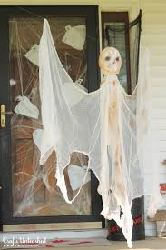 halloween ghost crafts diy outdoor halloween decorations hanging mummy ghost