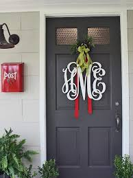 home with baxter front door decorating