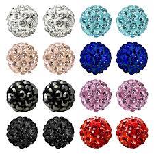 most hypoallergenic earrings bling bling rhinestones fireball disco