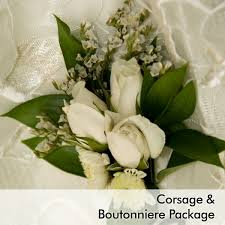 where can i buy a corsage and boutonniere for prom white wedding corsage boutonniere package martin s specialty