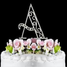 letter cake topper a wf monogram wedding cake toppers