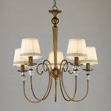 Bedroom Chandeliers Rustic 5 Light Fabric Shade Bedroom Chandeliers Wrought Iron