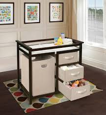 Change Table Badger Basket Modern Changing Table With 3 Baskets