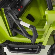jeep car green big suv trailcat style 12v electric jeep green