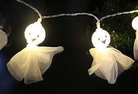 halloween ghost string lights halloween decorative string lights battery operated novelty ghost