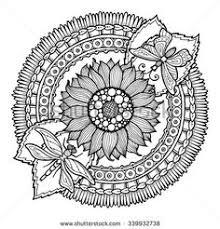 henna tatoo mandala mehndi style decorative pattern in oriental