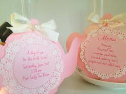 tea pot with doiley invitation love the ribbon and pearl tea