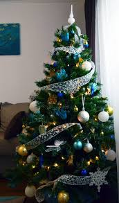 baby nursery mesmerizing blue and gold christmas tree decorations