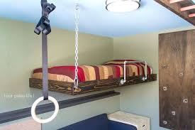 Suspended Bed Frame Suspended Loft Bed From Ceiling Smartwedding Co