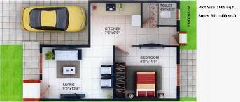 Merry 7 House Plan With 1 Bhk Row House Plans Homes Zone