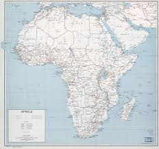 Map Of Africa With Countries by Large Political Map Of Africa With Roads Railroads And Cities