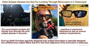 Sunglasses For Blind People Solar Eclipse Glasses And Binocular Warning Imgur