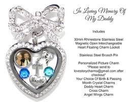 in loving memory lockets in loving memory memorial necklace 30mm stainless steel