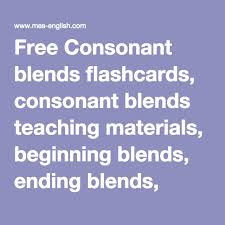 free consonant blends flashcards consonant blends teaching
