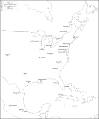 map of eastern usa and canada blank outline map eastern united states justinhubbard me