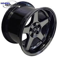 Black Chrome Wheels Mustang 17x10 5 Black Chrome 03 Cobra Style Wheels From Wheel Replicas 94