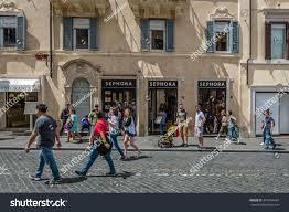 sephora siege rome italy june 4 2016 stock photo 431344444