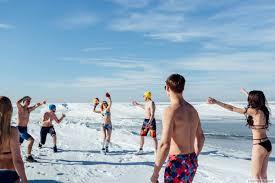 russian beaches white beaches of siberia frosty party on the lake baikal