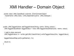 roles and reponsibilities developer siw uml loader xmihandler