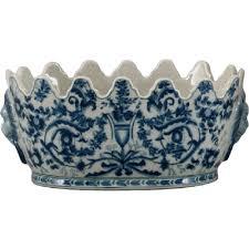 oriental designs blue and white azure casey planter