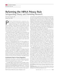 reforming the hipaa privacy rule jama the jama network