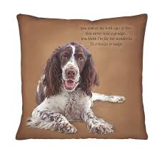 springer spaniel portrait pillows the danbury mint