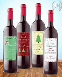 wine christmas gifts wine label collection christmas wine label 4 pack